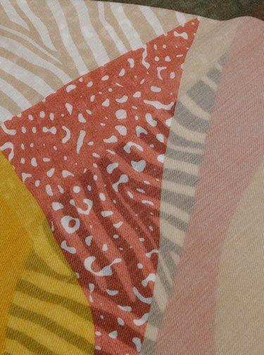 Kaki–béžová vzorovaná šatka Pieces Erle