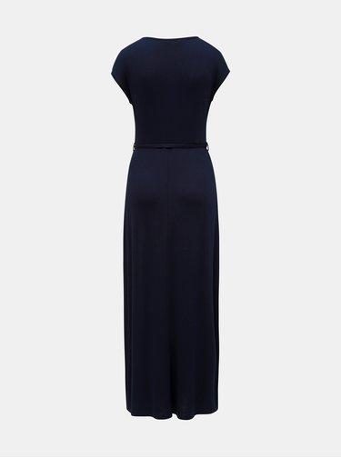 Rochie maxi albastru inchis cu decolteu suprapus Dorothy Perkins