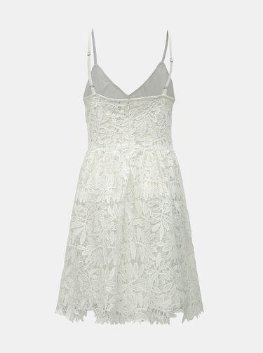 Biele čipkované šaty na ramienka VERO MODA Luna