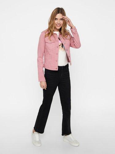Ružová rifľová bunda VERO MODA Hot