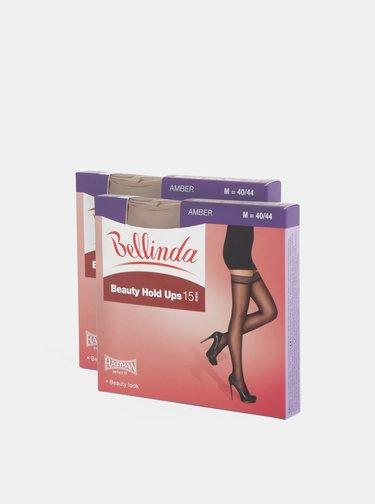 Balenie dvoch telových samodržiacich siloniek Bellinda Beauty Hold Ups 15 DEN