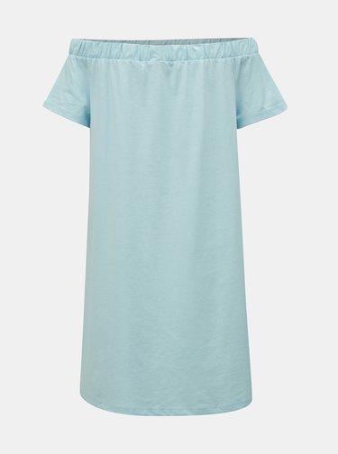 Svetlomodré šaty s odhalenými ramenami VERO MODA Alzia