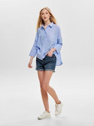 Modrá pruhovaná košeľa ONLY Grace