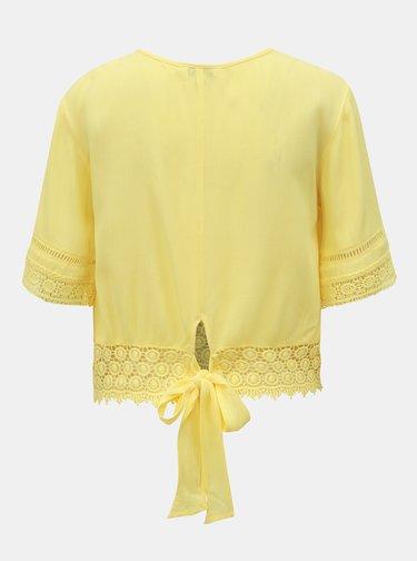 Žlutý top s madeirou Miss Selfridge
