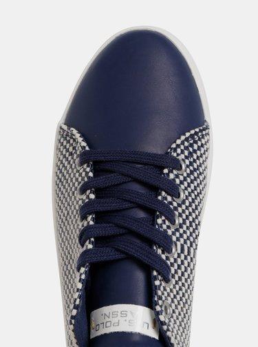 Tmavě modré dámské kostkované tenisky U.S. Polo Assn. Trixy
