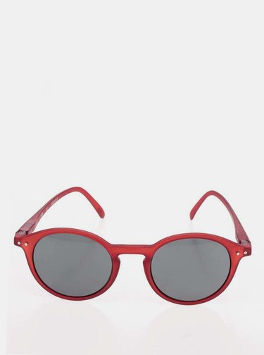 Červené slnečné okuliare s čiernymi sklami IZIPIZI #D