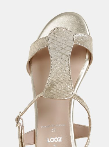 Sandály ve zlaté barvě s hadím vzorem OJJU Marsella
