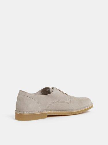 Pantofi barbatesti bej din piele intoarsa Selected Homme Royce Derby