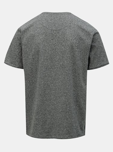 Šedé žíhané basic tričko Raging Bull