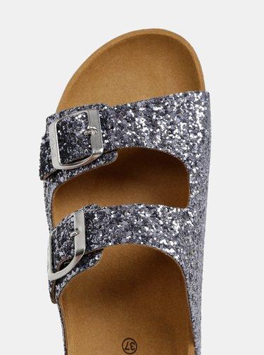 Papuci argintii stralucitori de dama Scholl Glam