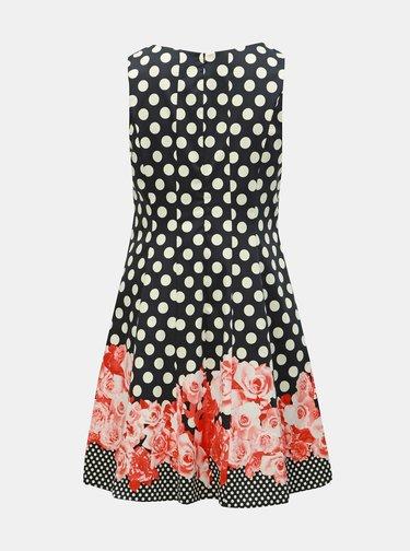Tmavomodré vzorované šaty Ulla Popken