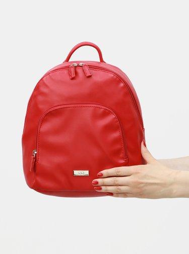 Červený koženkový batoh s predným vreckom ZOOT