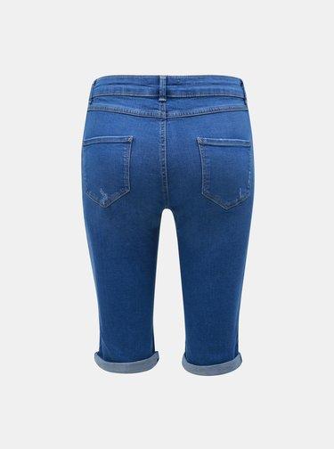 Modré rifľové kraťasy Dorothy Perkins Tall