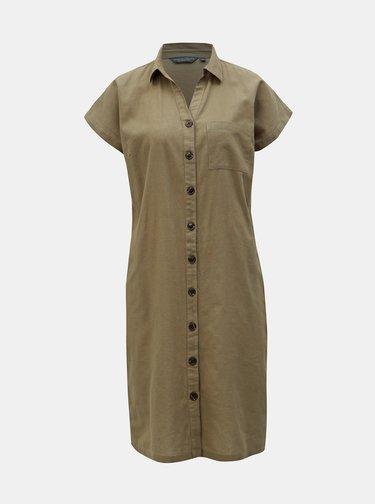 Kaki košeľové šaty Dorothy Perkins Tall