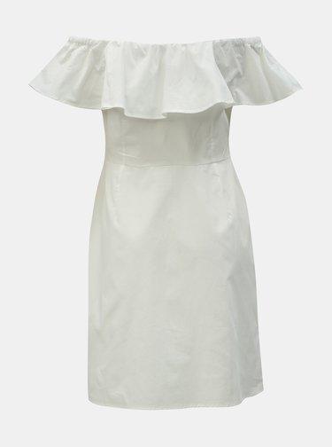 Biele šaty s odhalenými ramenami Dorothy Perkins