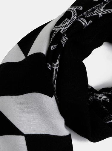 Bílo-černý vzorovaný šátek Calvin Klein Jeans