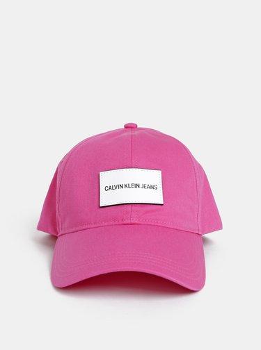Růžová dámská kšiltovka Calvin Klein Jeans