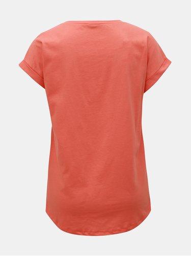Oranžové basic tričko VILA Dreamers