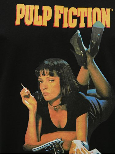 Čierne tričko s potlačou ONLY & SONS Pulp Fiction
