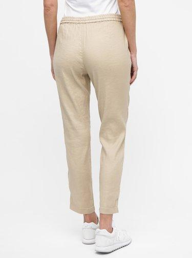 Béžové dámske ľanové nohavice GANT