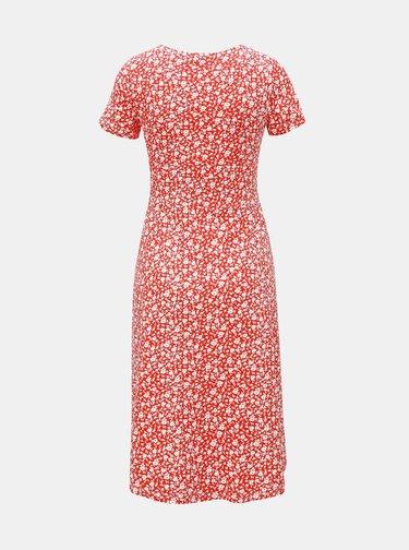Červené těhotenské květované šaty Dorothy Perkins Maternity