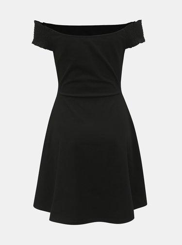 Čierne šaty s odhalenými ramenami Dorothy Perkins Petite