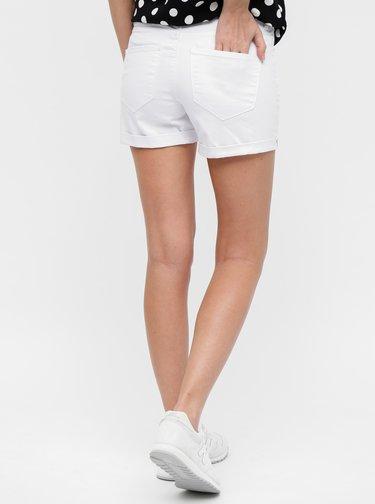Pantaloni scurti albi din denim VERO MODA Hot Seven