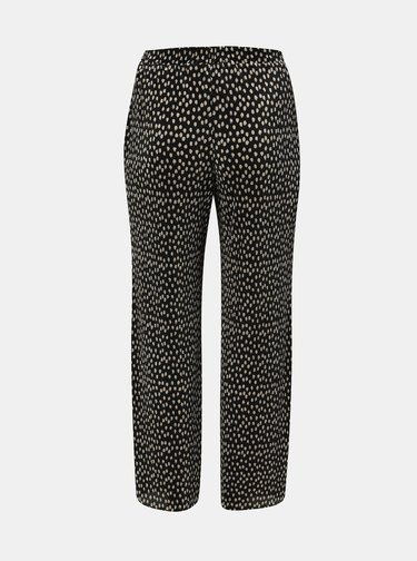 Černé plisované puntíkované kalhoty Dorothy Perkins Curve