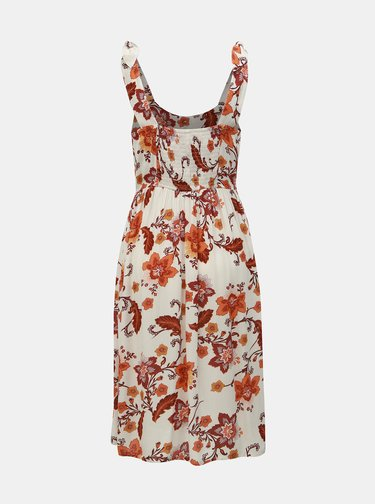 Krémové kvetované šaty na ramienka Dorothy Perkins Petite