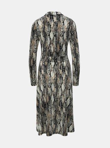 Béžové košeľové šaty s hadím vzorom Dorothy Perkins Tal