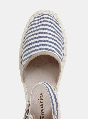Bielo–modré sandále Tamaris