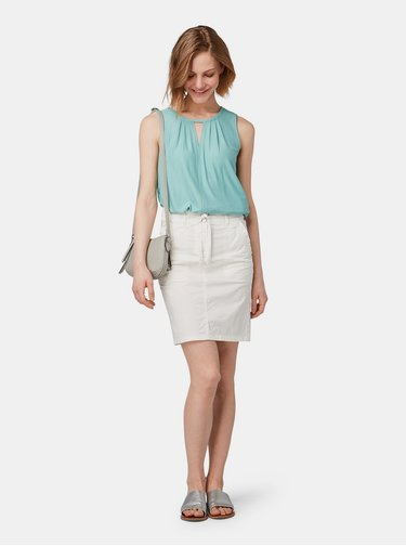 Krémová vzorovaná sukně Tom Tailor