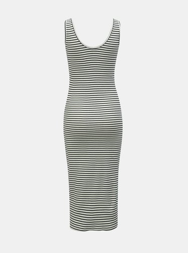 Čierno–biele pruhované puzdrové basic šaty ONLY Cami