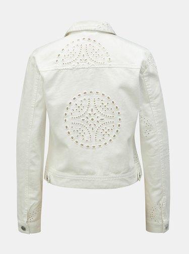 Biela rifľová bunda s madeirou ONLY Chris