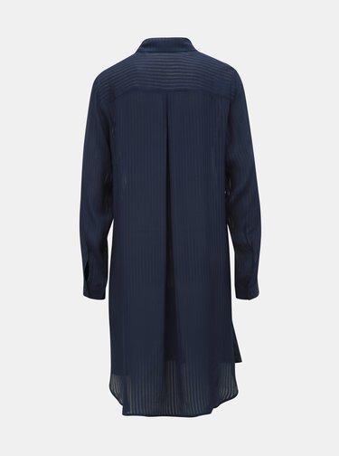 Tmavě modrá dámská pruhovaná dlouhá košile Tom Tailor Denim