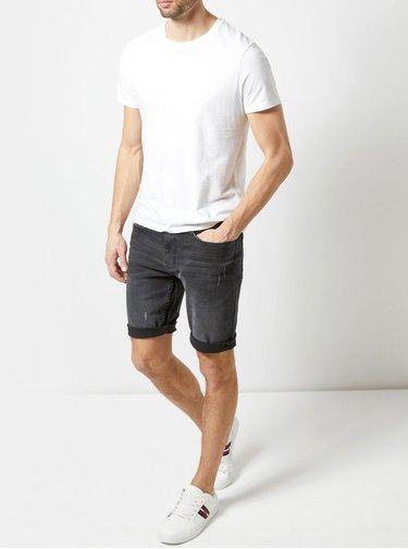 Pantaloni scurti gri inchis din denim Burton Menswear London
