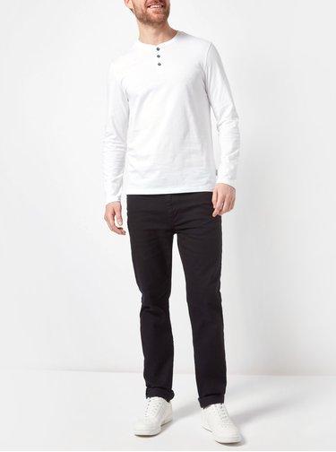 Biele basic tričko s gombíkmi Burton Menswear London
