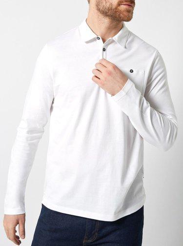 Set de 2 tricou polo negru si alb regular fit Burton Menswear London