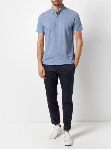 Světle modrá vzorovaná košile Burton Menswear London