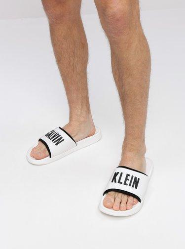 Biele pánske šľapky Calvin Klein Underwear
