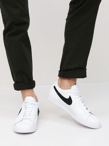 Tenisi barbatesti albi din piele naturala Nike Blazer Low