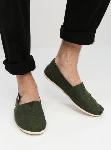 Zelené pánske slip on TOMS