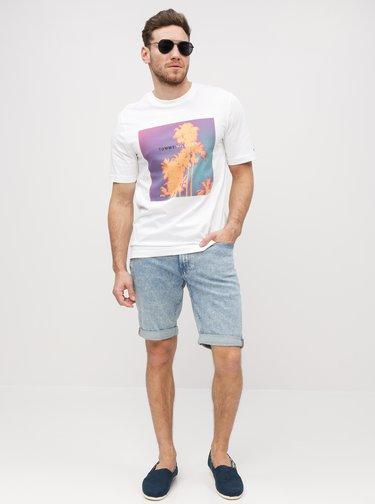 Svetlomodré pánske slim fit rifľové kraťasy Calvin Klein Jeans
