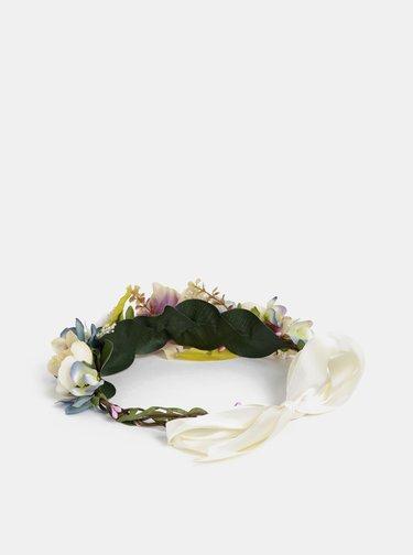 Ružovo–krémová kvetovaná čelenka VERO MODA Bes
