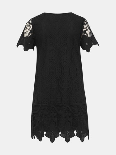 Čierne čipkované šaty Mela London