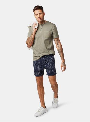 Khaki pánské basic tričko Tom Tailor Denim