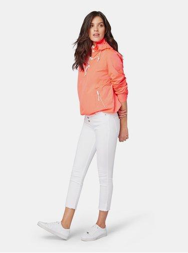 Bílé dámské zkrácené skinny fit džíny s vysokým pasem Tom Tailor