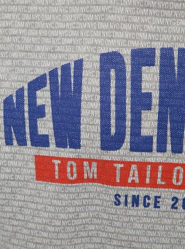 Hanorac barbatesc gri deschis cu model si imprimeu Tom Tailor Denim