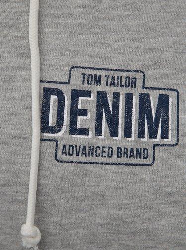 Svetlosivá pánska melírovaná mikina Tom Tailor Denim