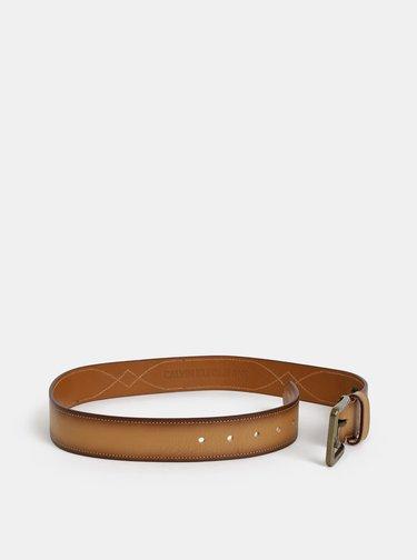 Hnědý pánský kožený pásek Calvin Klein Jeans